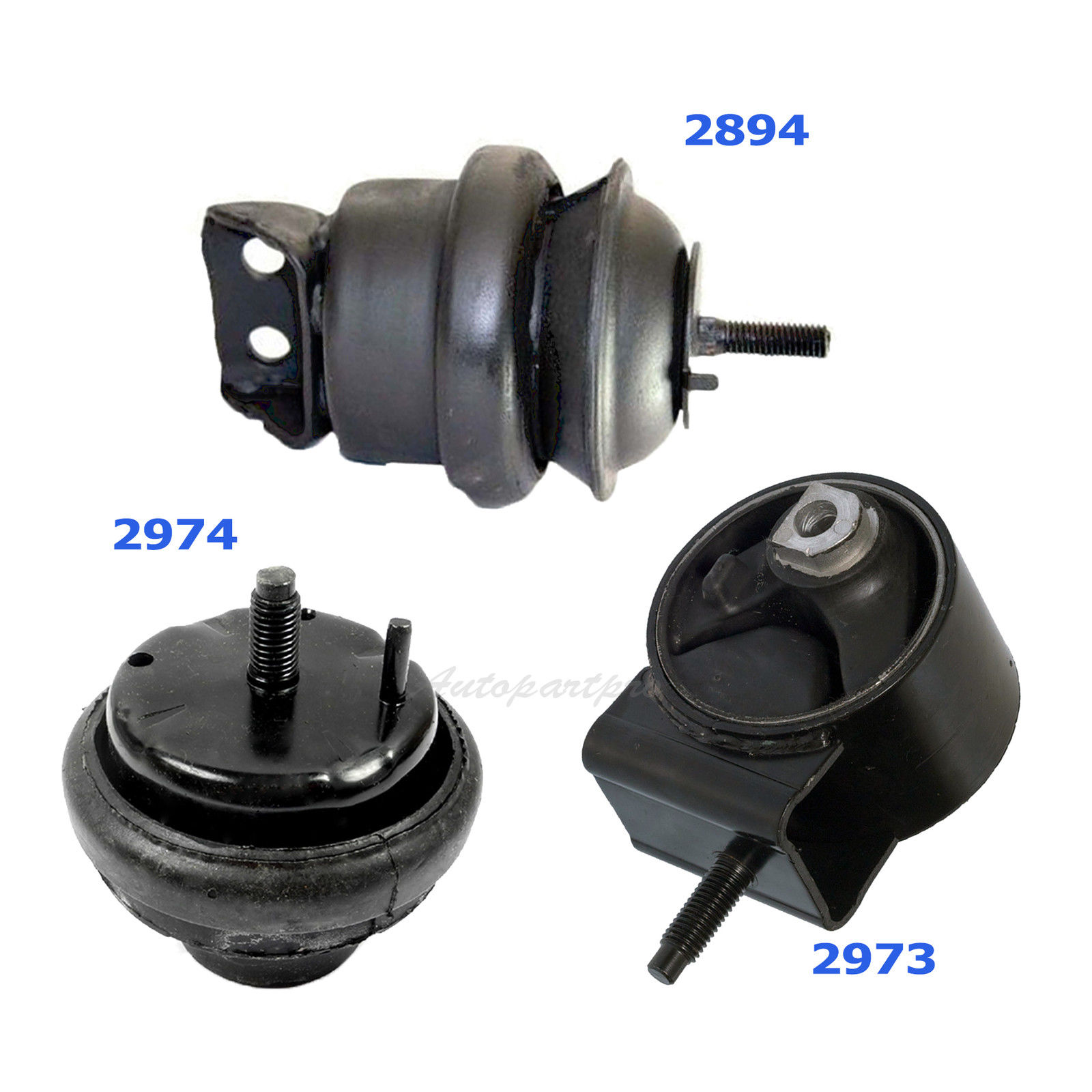 Motor /& Trans Mount For 2000-2003 FORD TAURUS 3.0L 2872 2973 2974 2894 M1396
