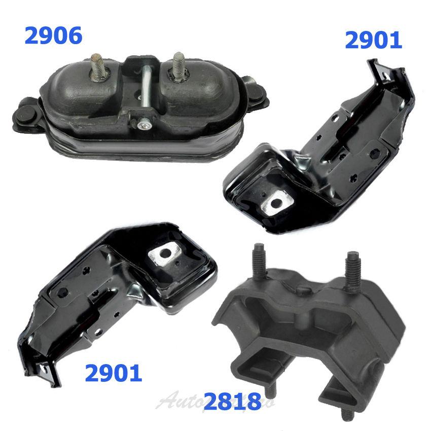 New Engine Mount Set 4 For 00-05 Chevrolet Impala 2818 2901*2 2906 M765