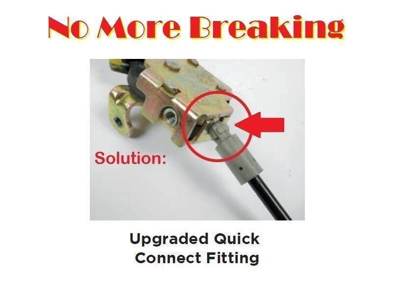 For E150 E250 E350 E450 Left Rear Door Upper Latch Cable RK3002M 6C2Z-1543286-AA