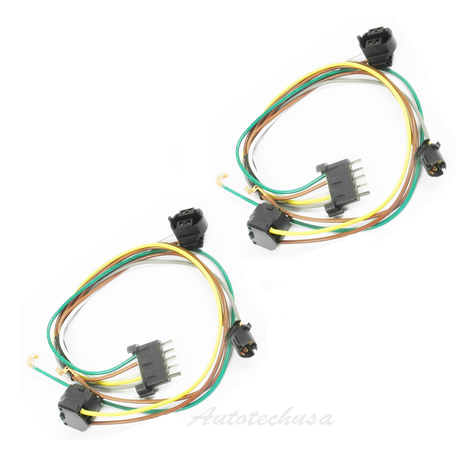 Details about For L +R Headlight Halogen Wiring Harness Connector Kit on headlight connectors, headlight bracket, heavy duty headlight harness, headlight relay harness, bucket truck harness,