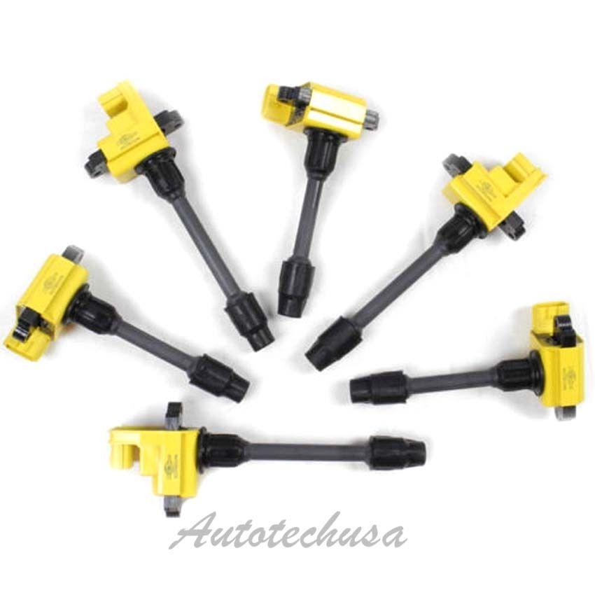 Multispark Blaster Epoxy IGNITION COIL SET 6 For Nissan IC225 B302Y*3 B303Y*3