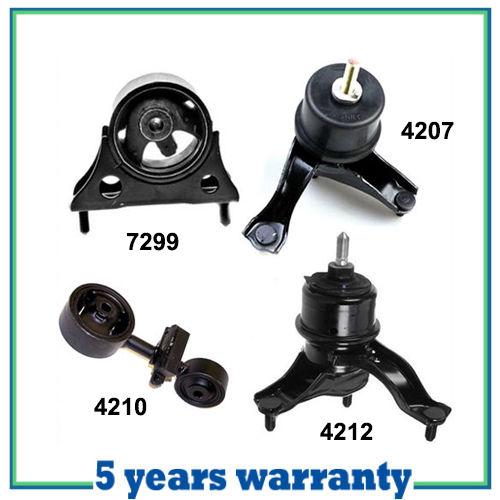 01-03 For Toyota Highlander 4207 4210 4212 7299 Set Engine Motor /& Trans Mount