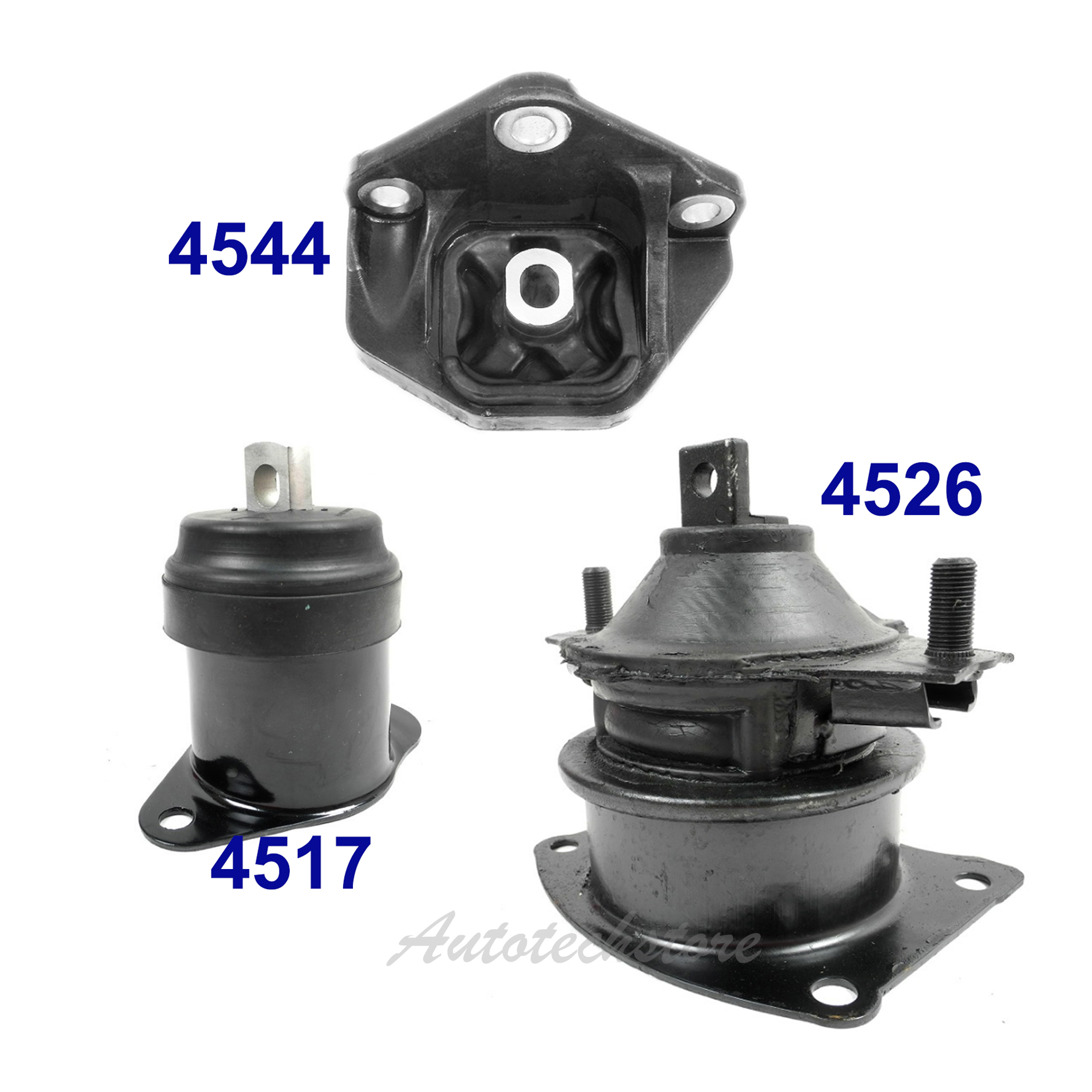 For 04-06 Acura TL 3.2L Auto Engine Motor /&Trans Mount 3PCS 4544 4526 4517 M1317