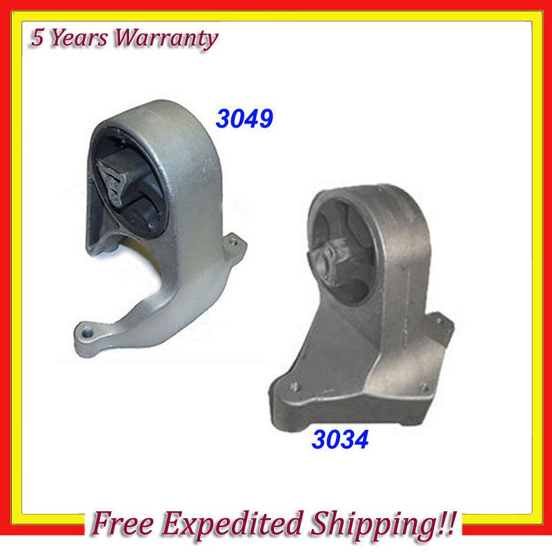 Engine Motor Mount 2PCS Set for 01-06 Chrysler Sebring//Dodge Stratus 2.4// 2.7L