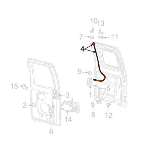 Left Rear Door Upper Latch Cable For E150 E250 E350 E450 6c2z