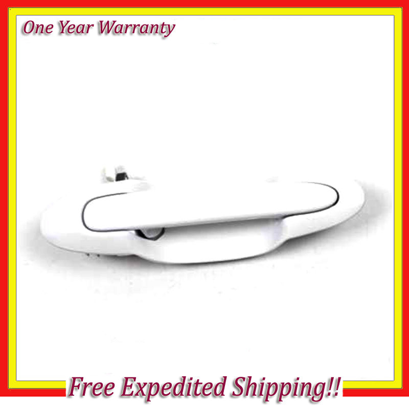 For 01-05 Mazda MPV Outside Door Handle Driver Rear Left A4D Arctic White B3824