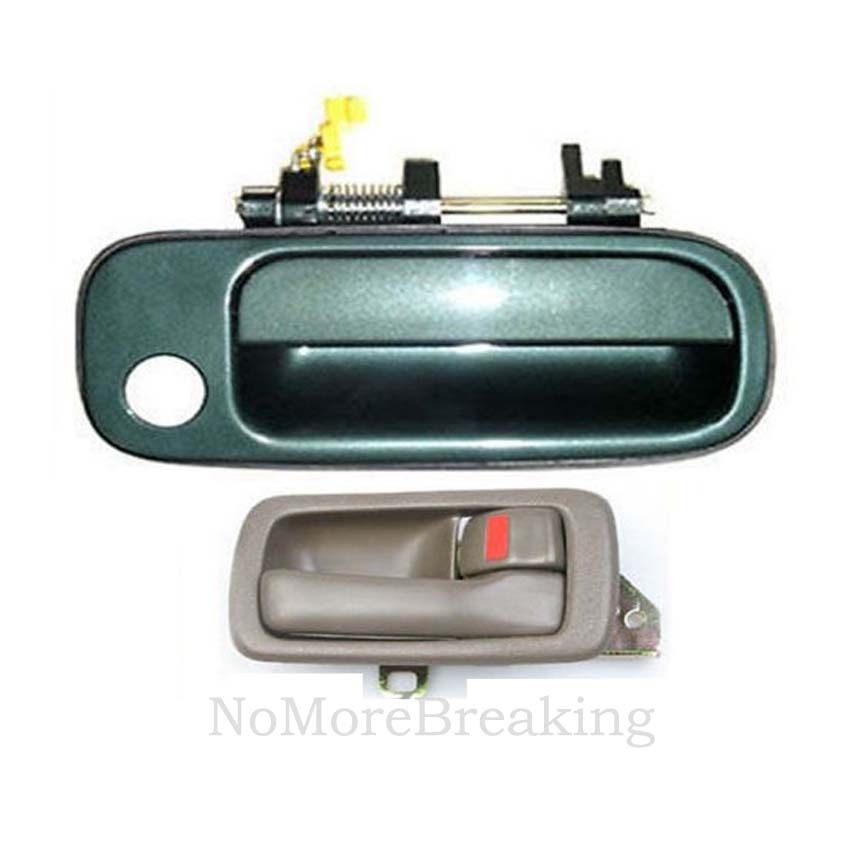 92-96 For Toyota Camry Outside Door Handle 2 Front GREEN 6M1 Left /& Right DH26
