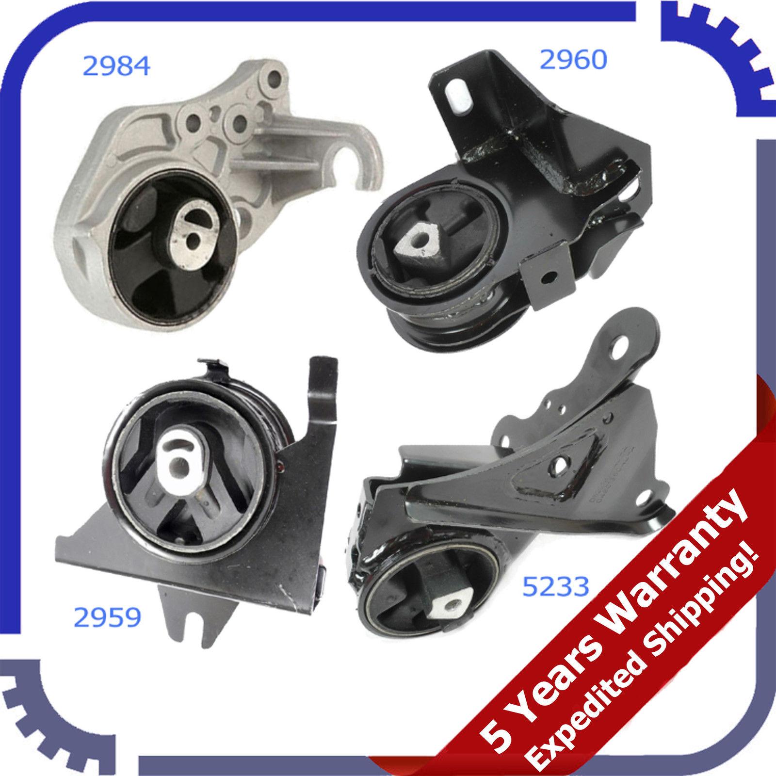 96-00 For Dodge Caravan 3.0L 3.3L 3.8L Engine Motor /& Trans Mount Set 4PCS M833