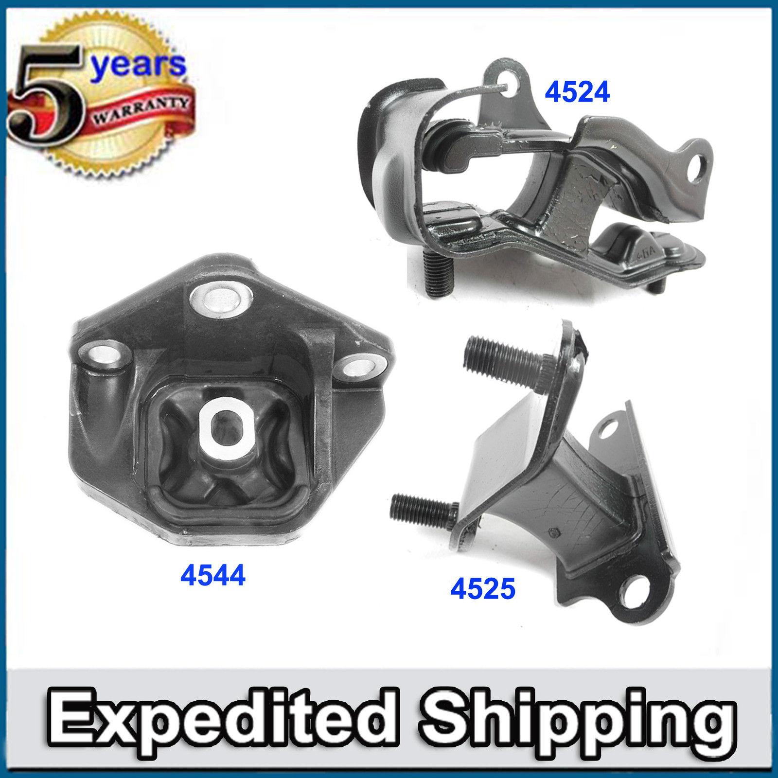 For 03-07 Accord 3.0L V6 SOHC 4525 4544 4524 Transmission Engine Mount Kit