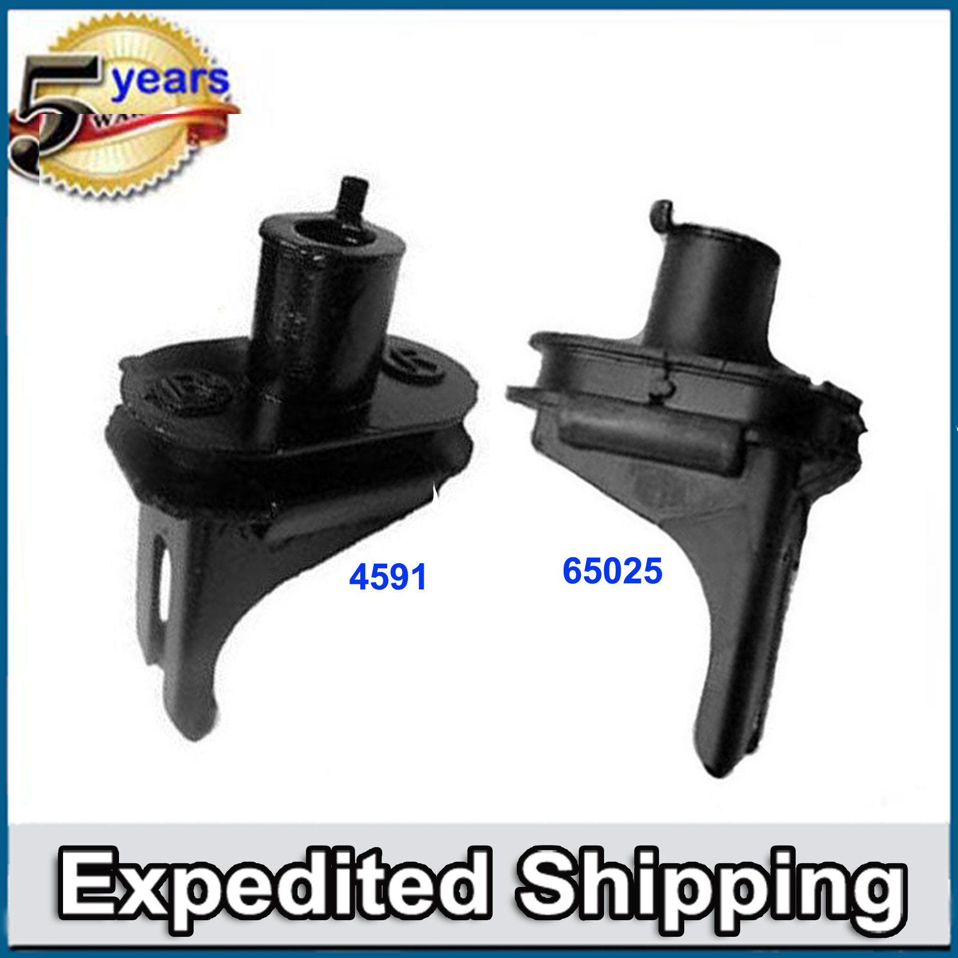 For Acura TL TSX Honda Accord Front Engine Motor Mount Set 2pcs 4591 65025 M1169
