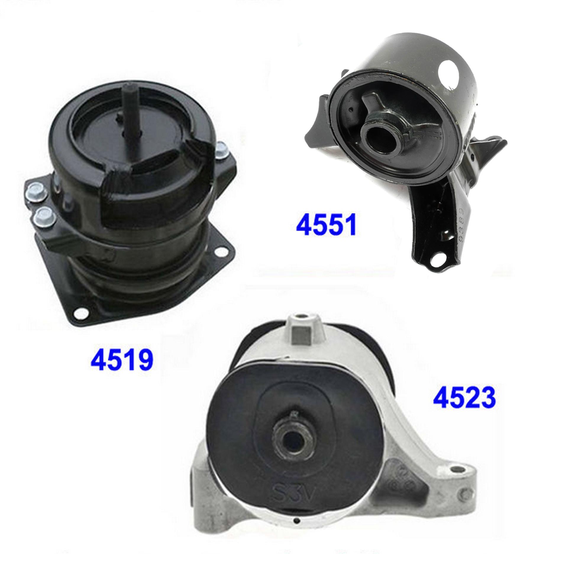 For 2001-2006 Acura MDX// Honda Pilot 3.5L Engine Motor Mount Set 3PCS M500