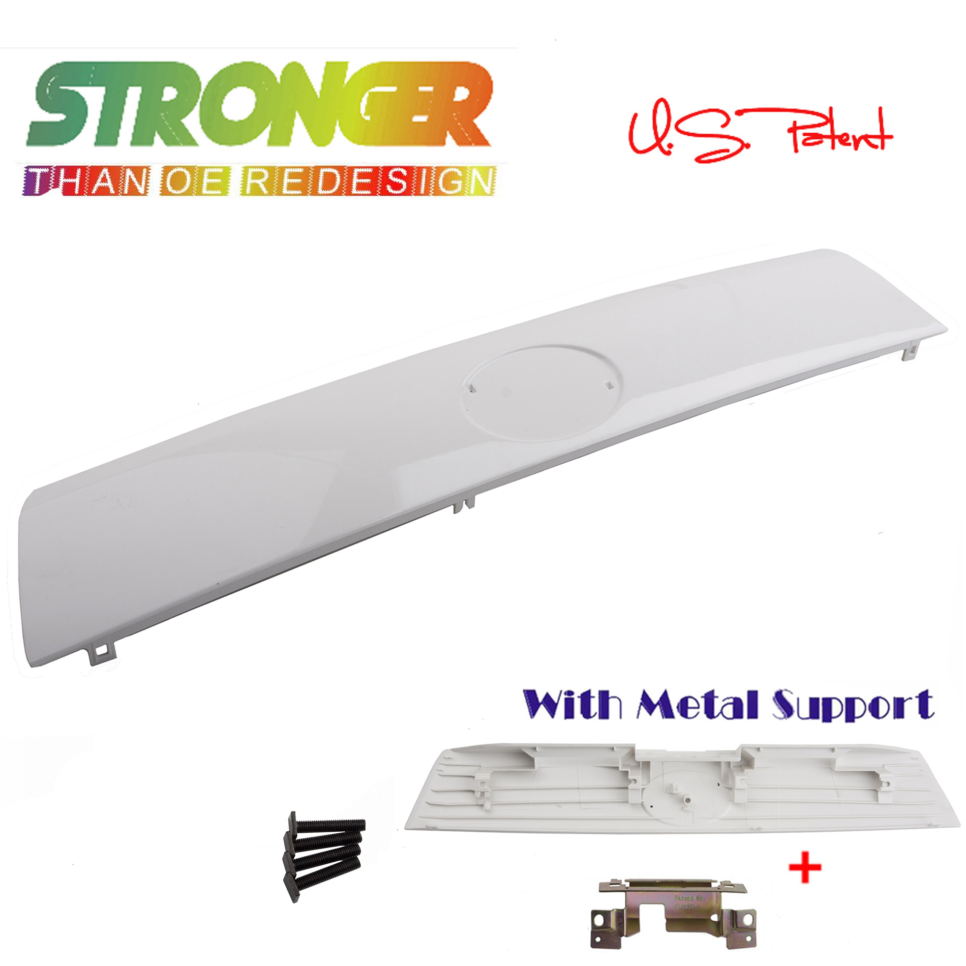 Outside Rear Trunk Liftgate Garnish Trim Panel White 040 DS1040BS For Scion Tc