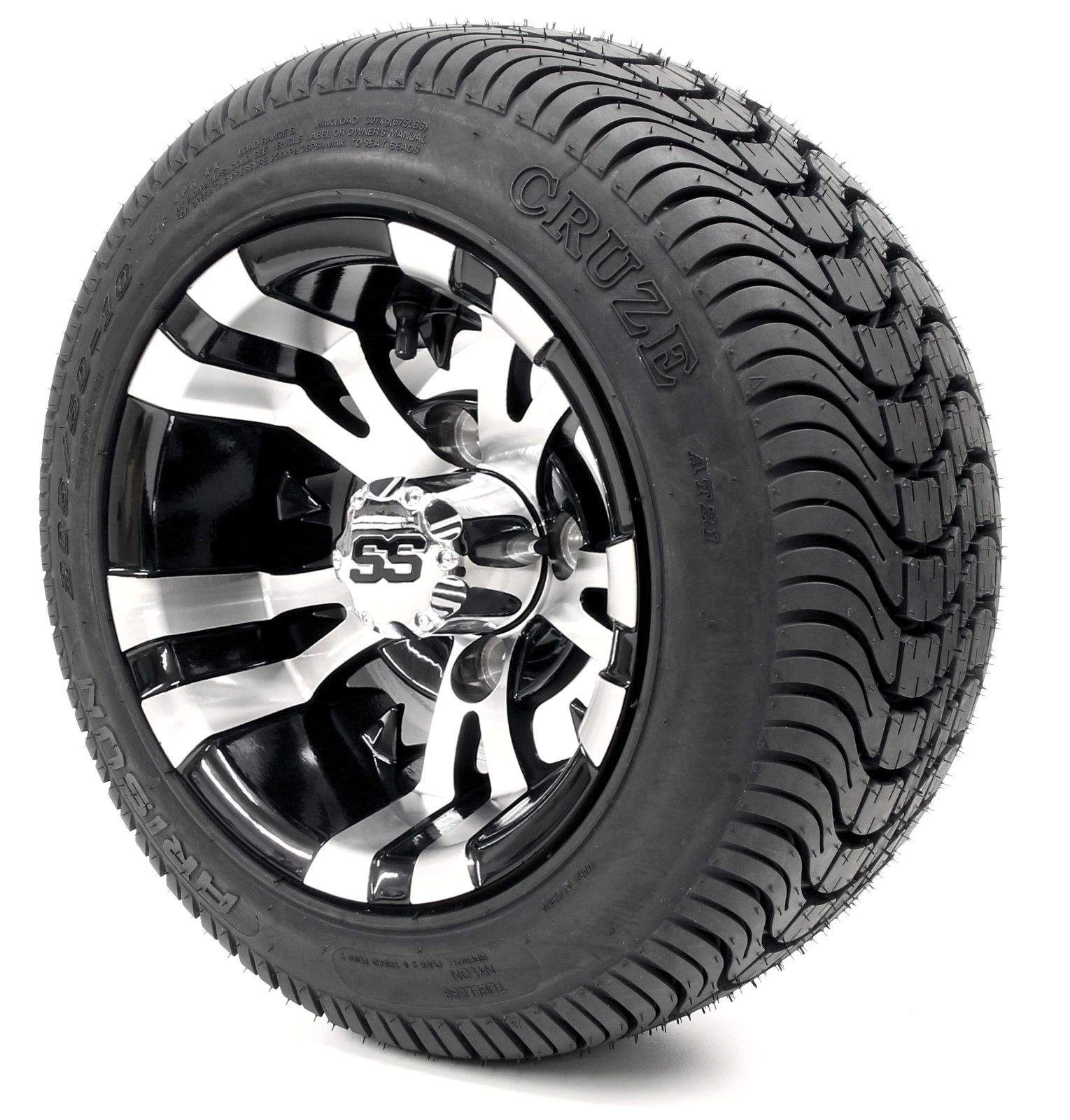 Golf Cart Wheels And Tires Combo 10 Vampire Ss W Low Pro Tires Set Of 4 Ebay