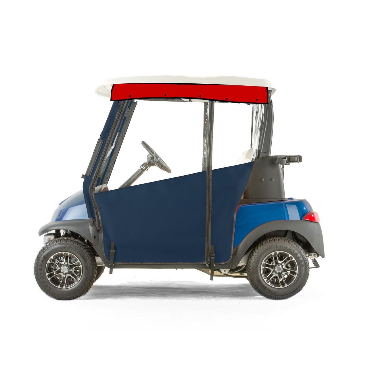 Club Car Precedent Golf Cart PRO-TOURING Sunbrella Track Enclosure Sunbrella Golf Cart Enclosures on golf cart side curtains, golf cart rain curtains, golf cart convertible top,