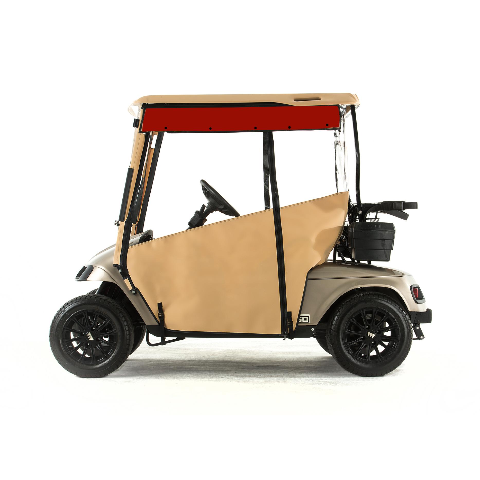 EZGO TXT Golf Cart PRO-TOURING Sunbrella Track Enclosure - Linen | Green Line Golf Cart Sunbrella Cover on national golf cart covers, canvas golf cart covers, classic golf cart covers, golf cart canopy covers, vinyl golf cart covers, star golf cart covers, door works golf cart covers, club car golf cart rain covers, buggies unlimited golf cart covers, clear plastic golf cart covers, custom golf cart covers, discount golf cart covers, sam's club golf cart covers, rail golf cart covers, portable golf cart covers, golf cart cloth seat covers, eevelle golf cart covers, 3 sided golf cart covers, yamaha golf cart covers, harley golf cart seat covers,