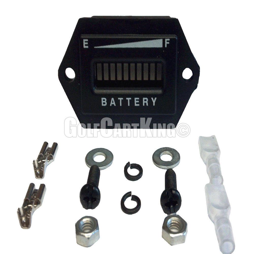 36 volt golf cart digital led battery state of charge indicator state of charge  battery state of charge meter wiring