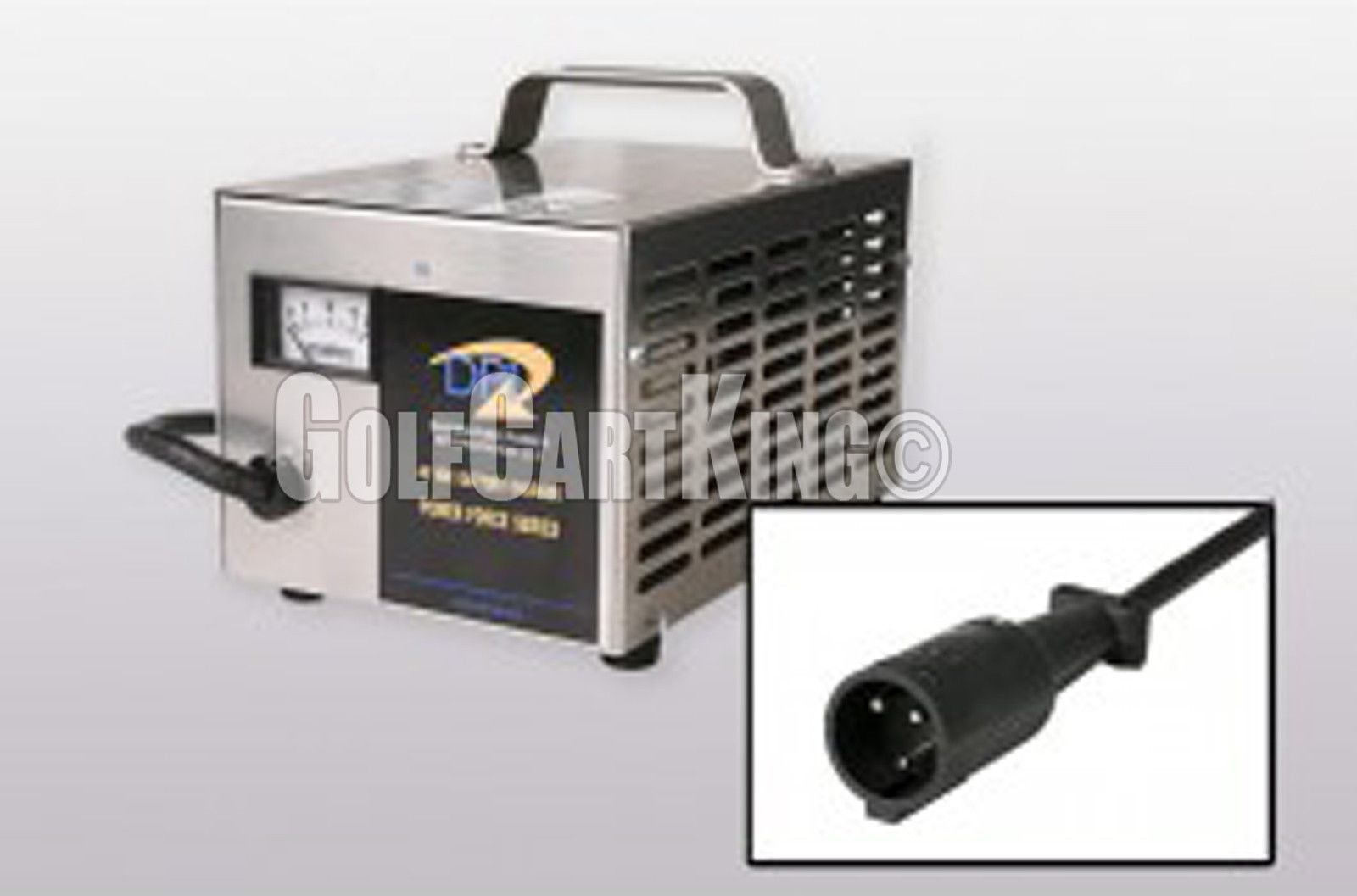 Club Car Powerdrive/IQ Golf Cart-48 Volt 15 Amp DPI Battery Charger-3 Pin  Round