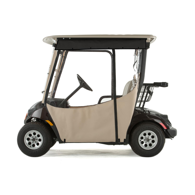 Yamaha Drive 2 Golf Cart PRO-TOURING Sunbrella Track Enclosure ... on golf cart side curtains, golf cart rain curtains, golf cart convertible top,