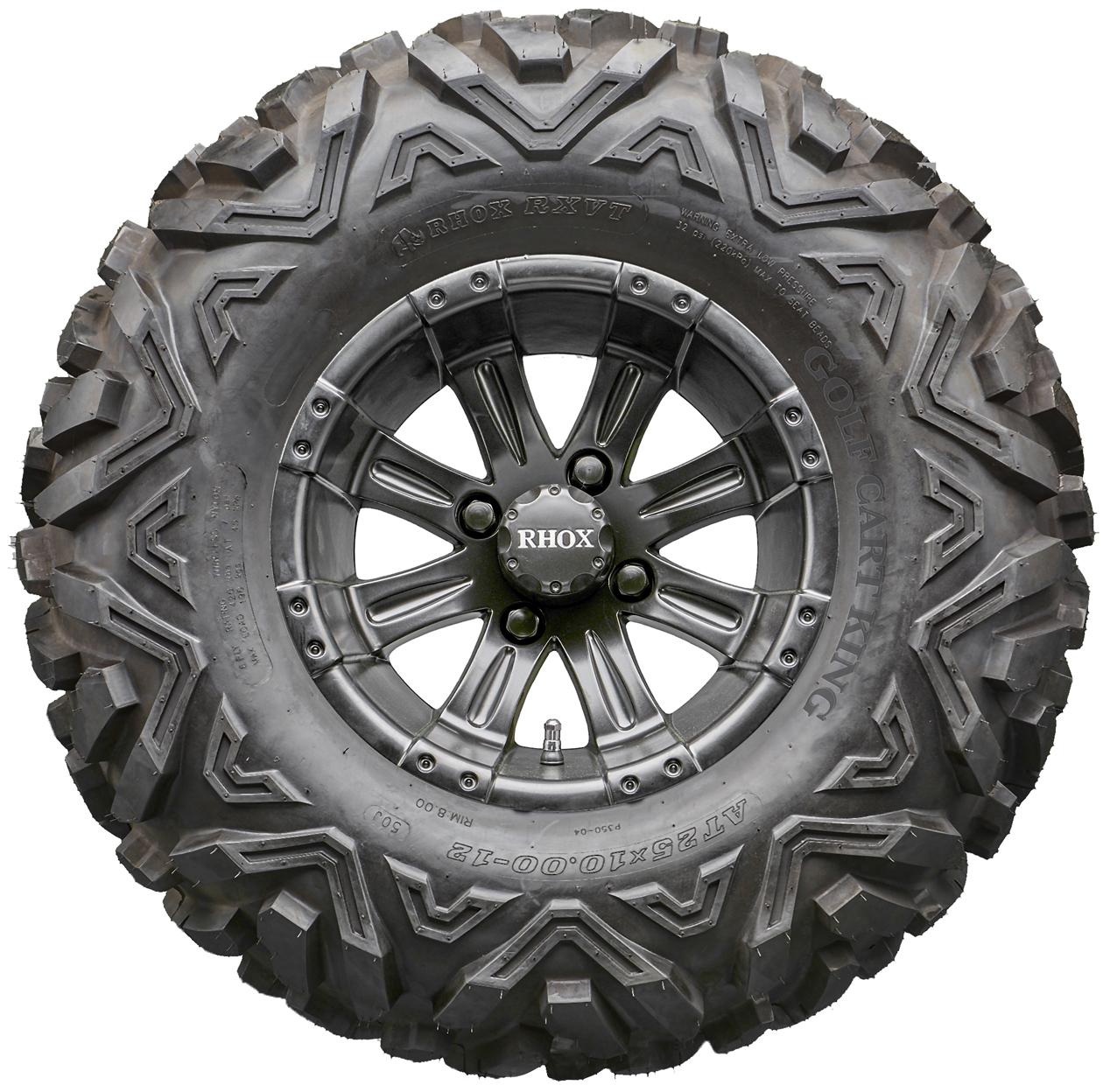 """12"""" RHOX RX184 Black Golf Cart Wheels and All Terrain ..."""