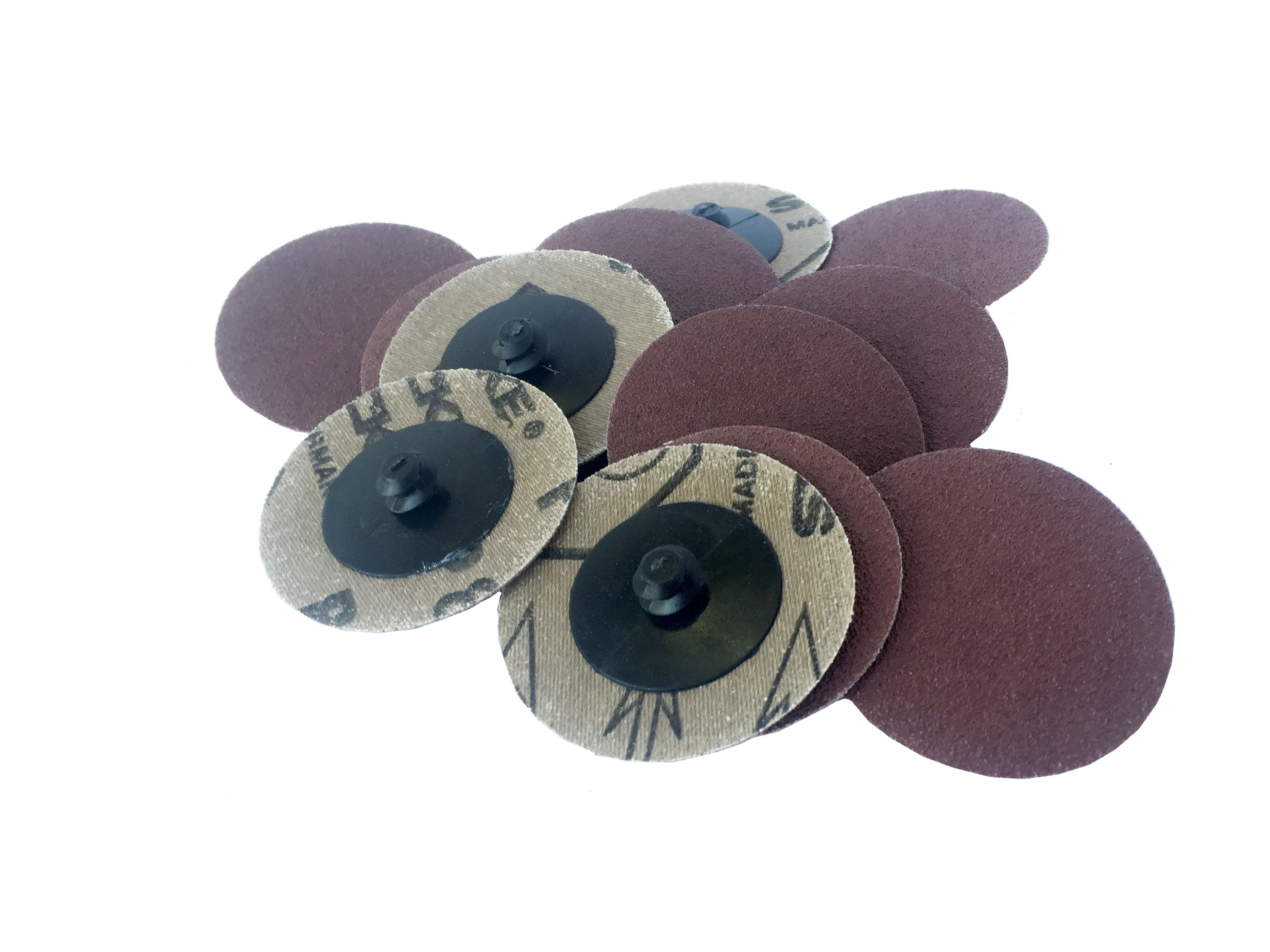 2 Quick Change Roll On AO Type R Sanding Discs 80 Grit, 25 Pack