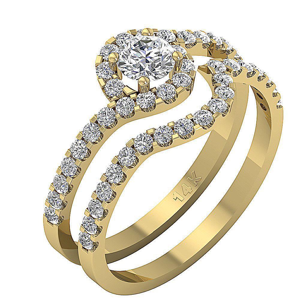 bridal engagement ring genuine diamond appraisal 14kt solid white gold ebay. Black Bedroom Furniture Sets. Home Design Ideas
