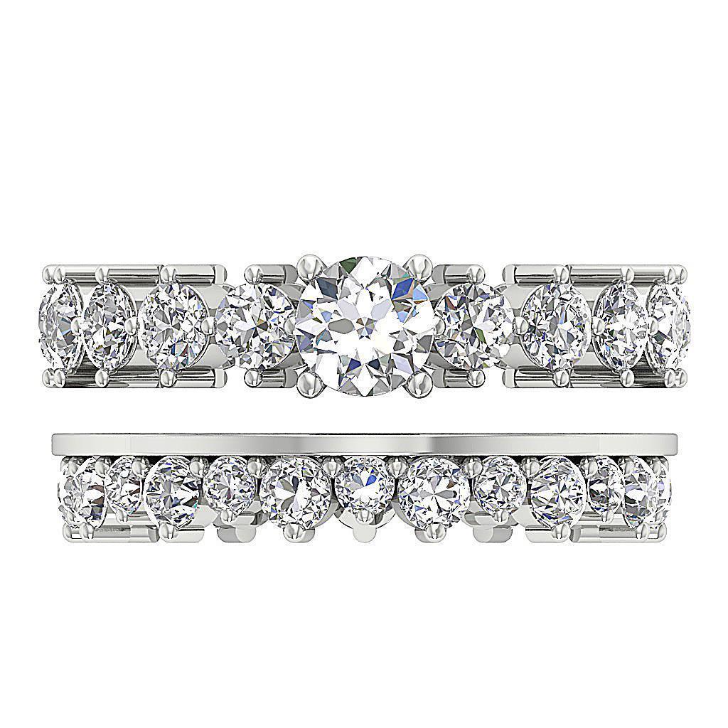 eternity bridal wedding ring band set si1 g 4 25ct
