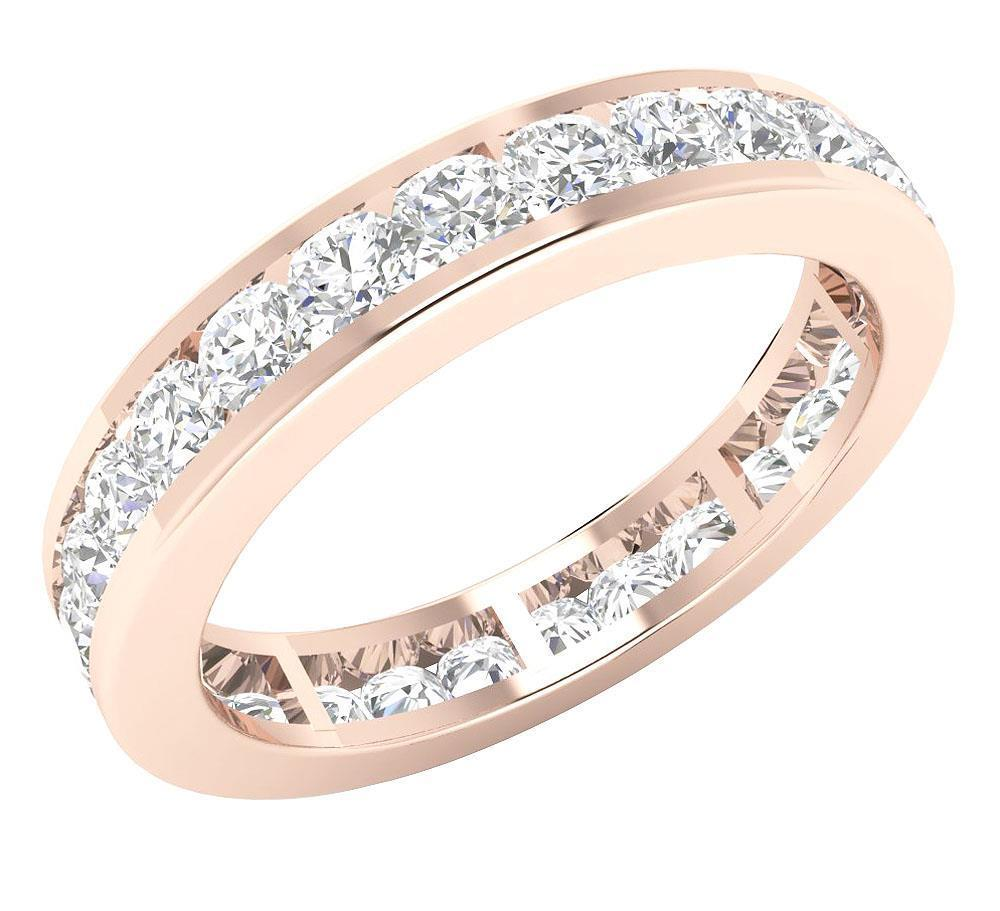 Eternity Ring Wedding Set: Eternity Ring Engagement Band 2.00Ct Genuine Diamond