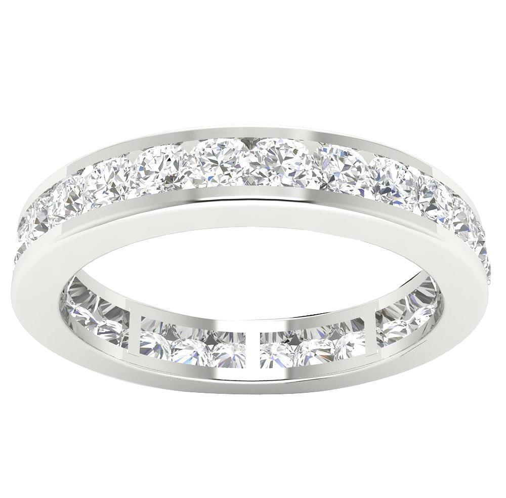 Eternity Ring Engagement Band 2.00Ct Genuine Diamond