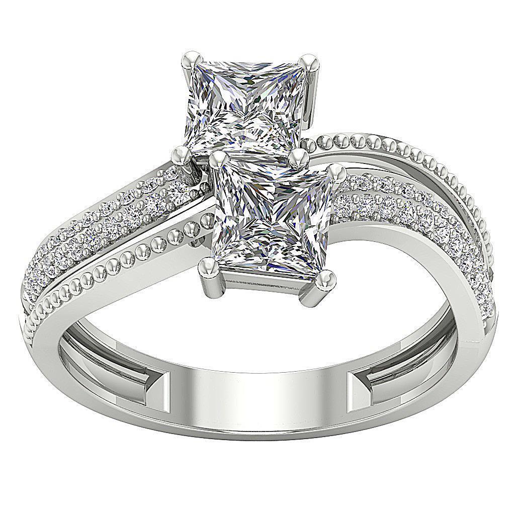 forever us 2 stone princess natural diamond. Black Bedroom Furniture Sets. Home Design Ideas