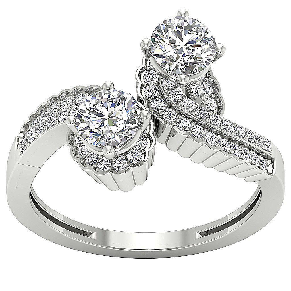 forever us two stone diamond solitaire engagement ring i1. Black Bedroom Furniture Sets. Home Design Ideas