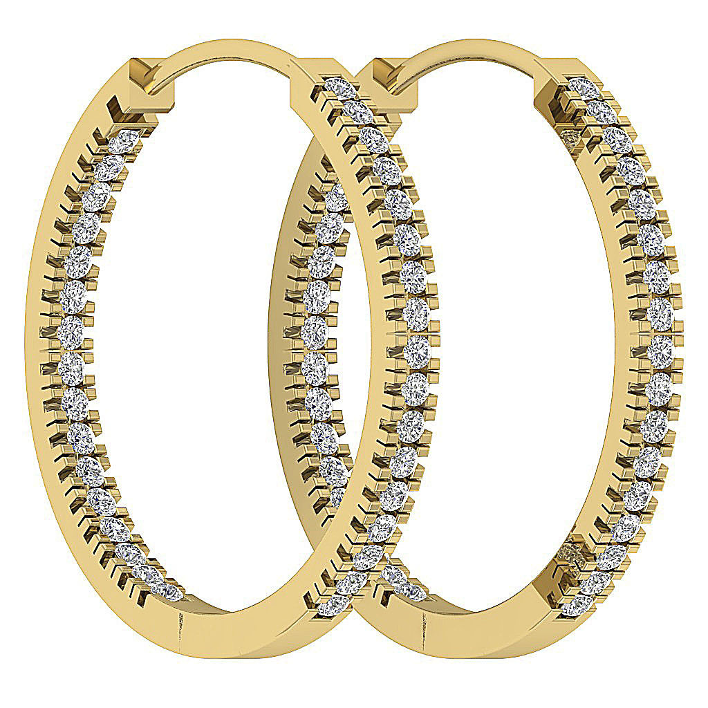 in out side real diamond i1 h hoop earrings 14kt. Black Bedroom Furniture Sets. Home Design Ideas