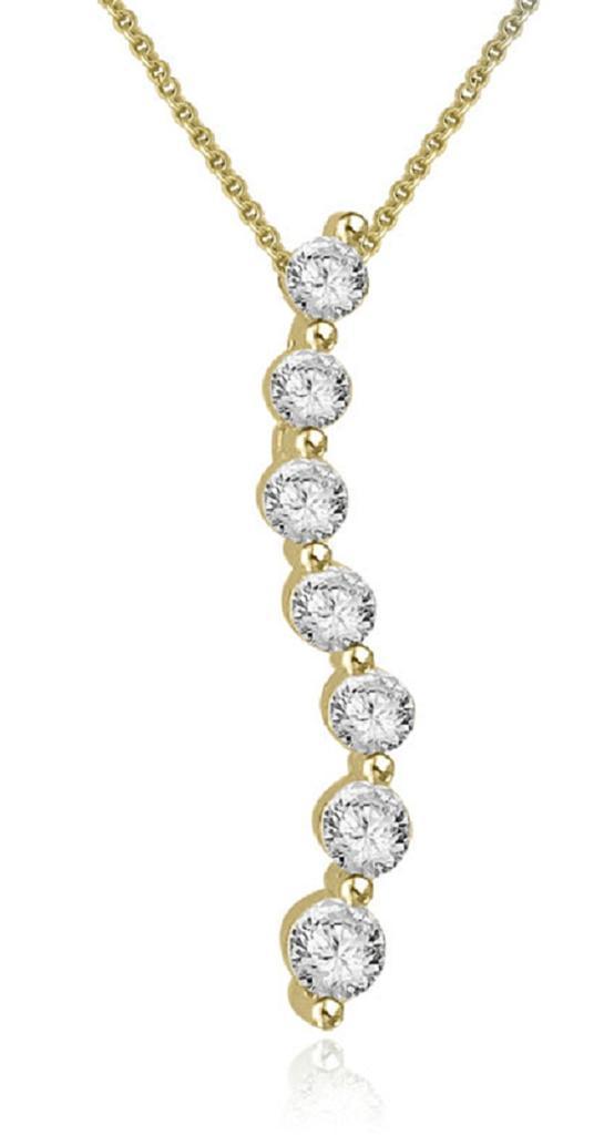 Journey pendant necklace 055ct genuine diamond 14kt white gold viaje colgante collar 0 55ct genuino diamante 14kt aloadofball Choice Image