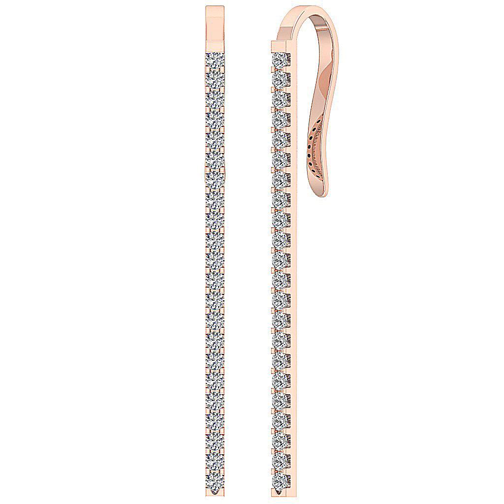 Round diamond dangle chandelier earrings vs1 f 065carat 14k solid round diamond dangle chandelier earrings vs1 f 0 arubaitofo Choice Image