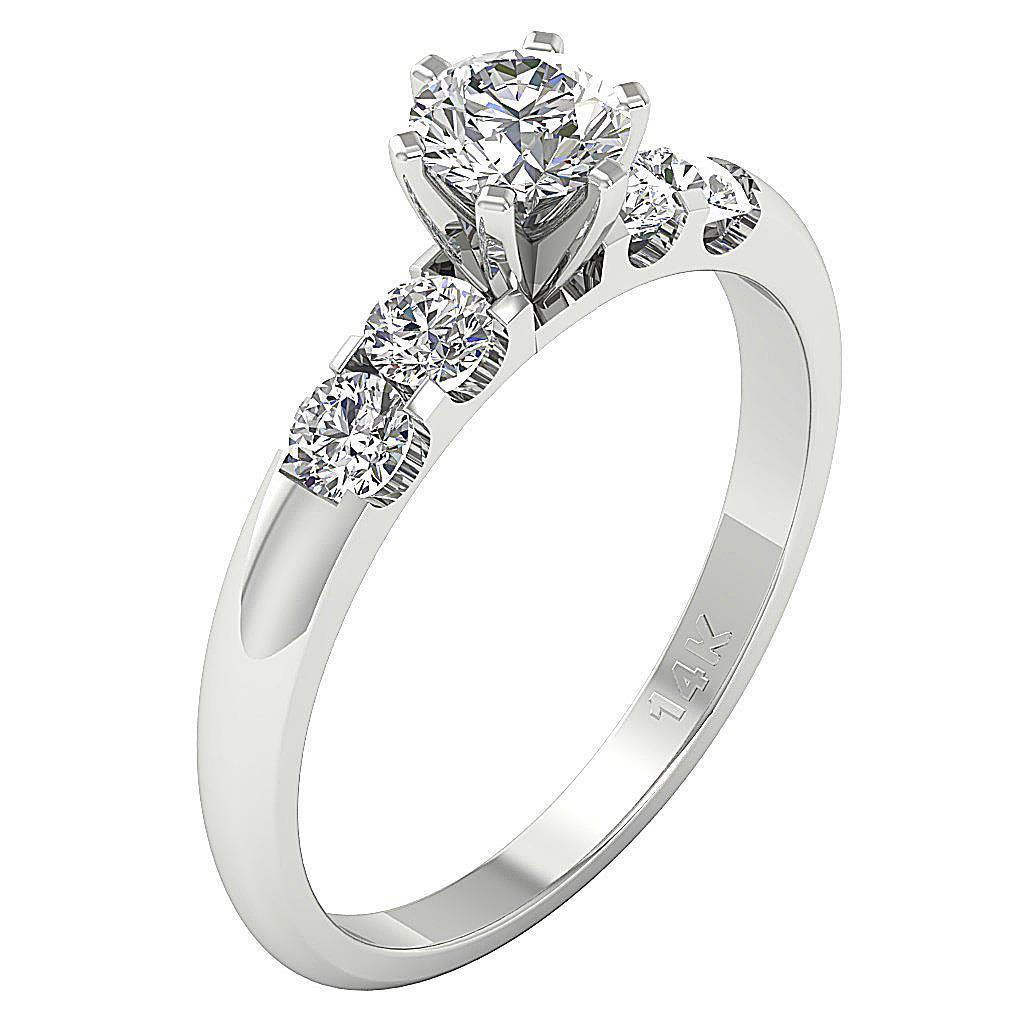 solitaire ring engagement band ct round diamond 14k. Black Bedroom Furniture Sets. Home Design Ideas
