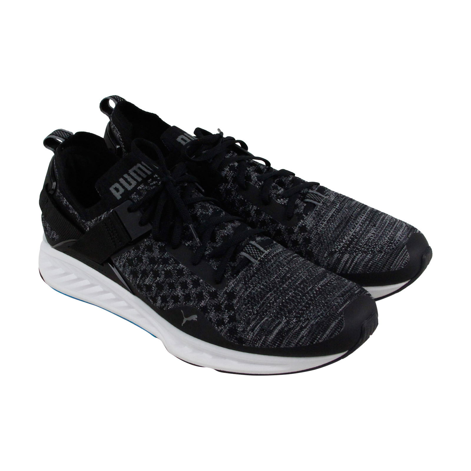 db862e88abf7 Chargement de l image en cours Puma-Ignite-Evoknit-Lo-Mens -Black-Textile-Athletic-