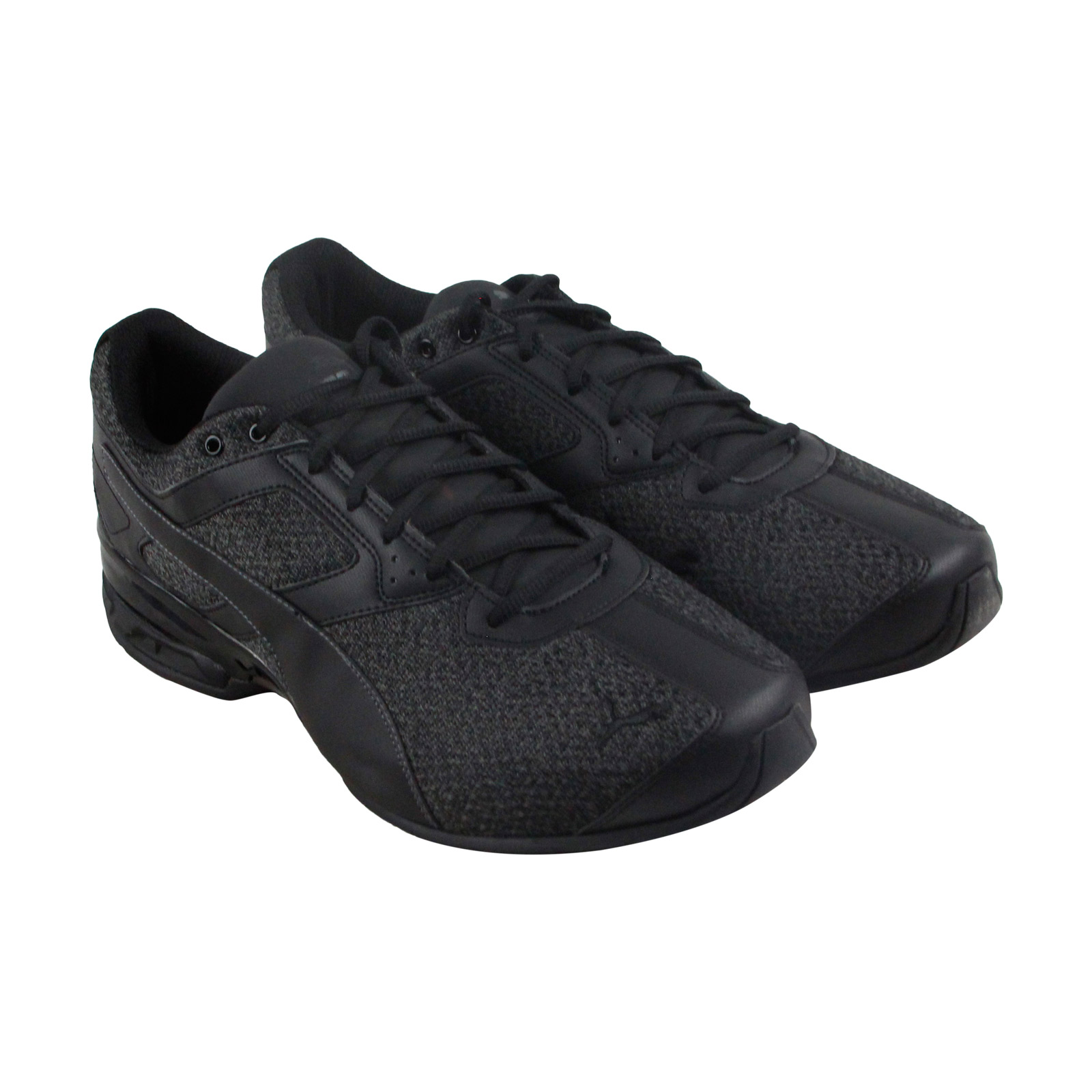 caecaa760d4a PUMA TAZON 6 Knit Mens Black Textile Athletic Lace Up Running Shoes ...