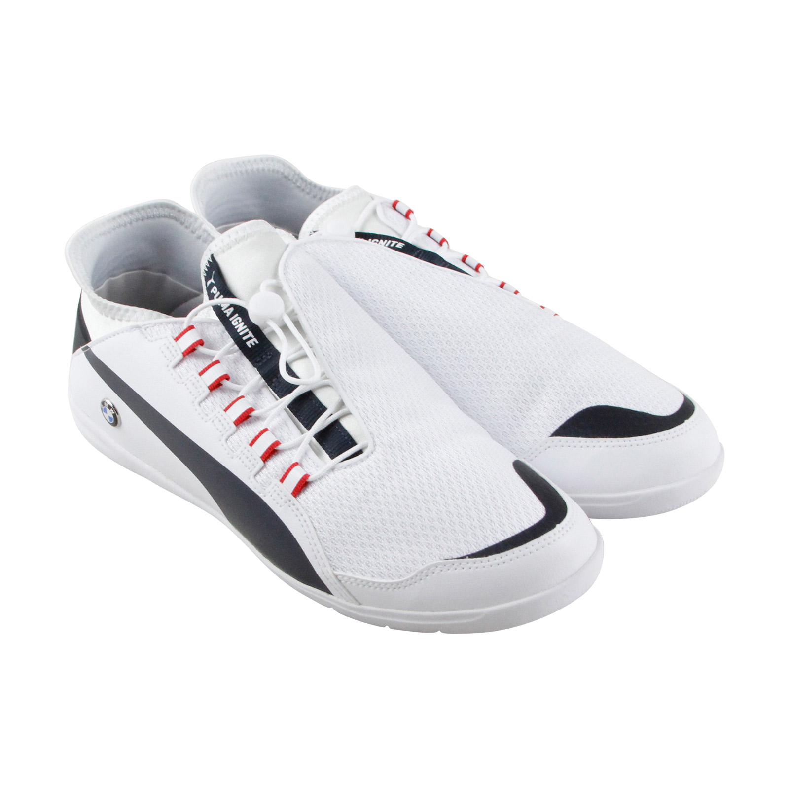 Puma Bmw Ms Future Textile Cat  Uomo WEISS Textile Future Lace Up Sneakers Schuhes 726acb