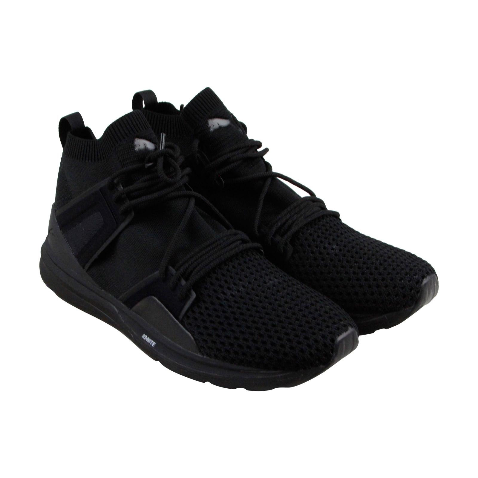 Puma B.O.G Limitless Hi Evo Knit Mens Black Mesh Bthletic Training Shoes