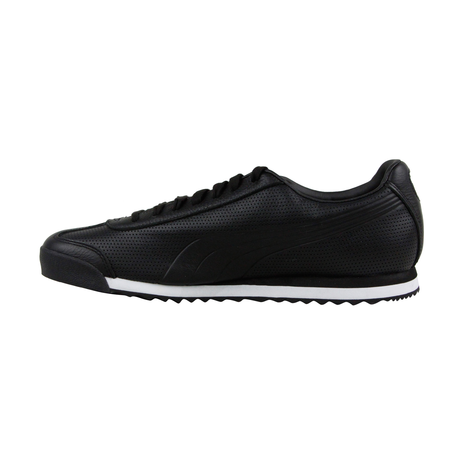 0c31b67ff83 Puma Roma Dlx Perf Mens Black Leather Lace Up Sneakers Shoes 2 2 of 3 See  More