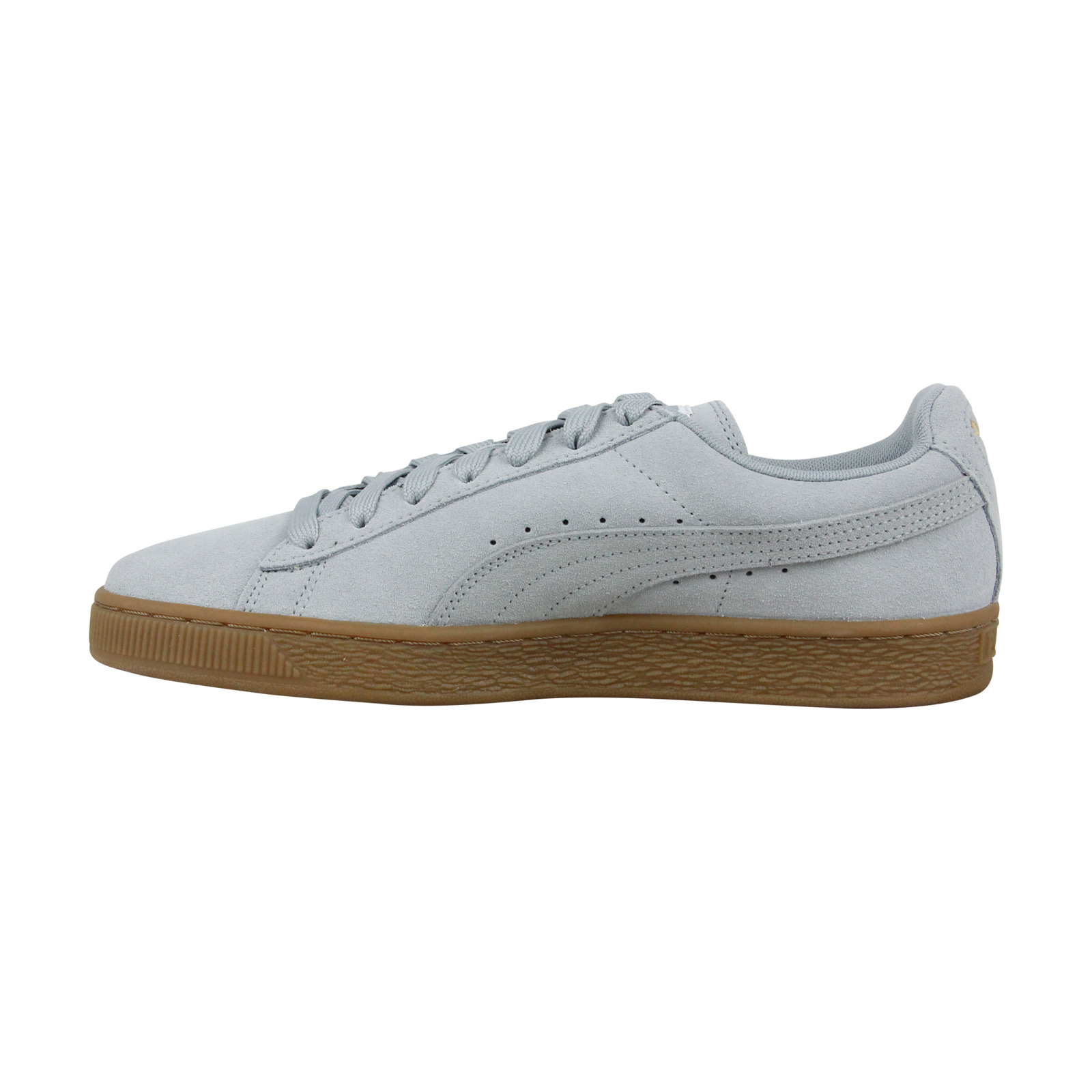 Puma Classic Gum Homme Gray Suede Up Lace Sneakers 54RA3Lcjq
