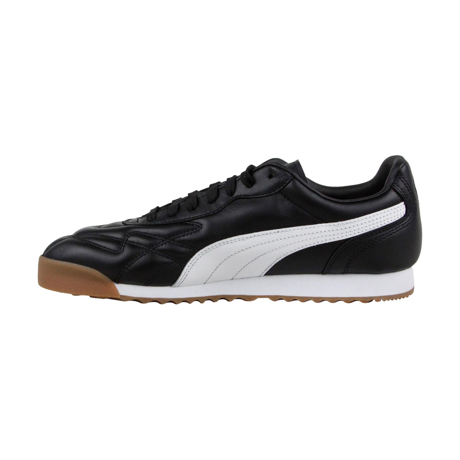 Puma-hommes-Roma-Anniversario-noir-peau-chaussures-de-tennis-40
