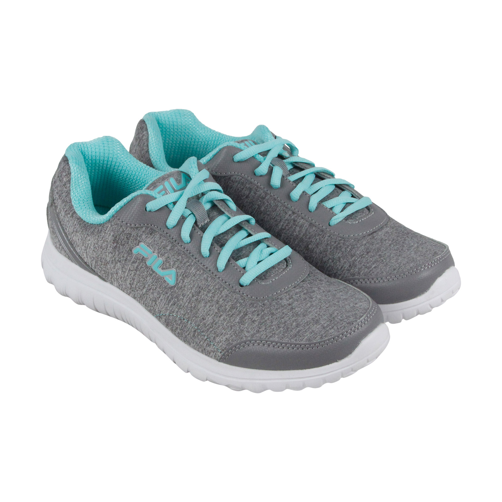 Fila Lite Spring Heather Womens Gray Textile Athletic Lace Up Running Shoes 9.5