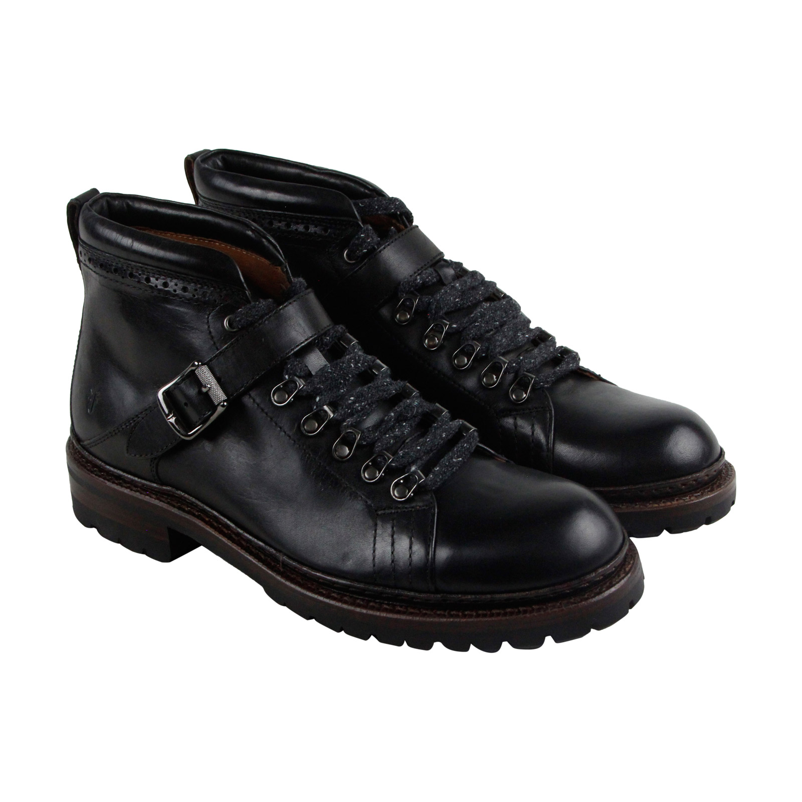 Frye George Norwegian Mens Black Leather Casual Casual Leather Dress Lace Up Boots Shoes 014ac3