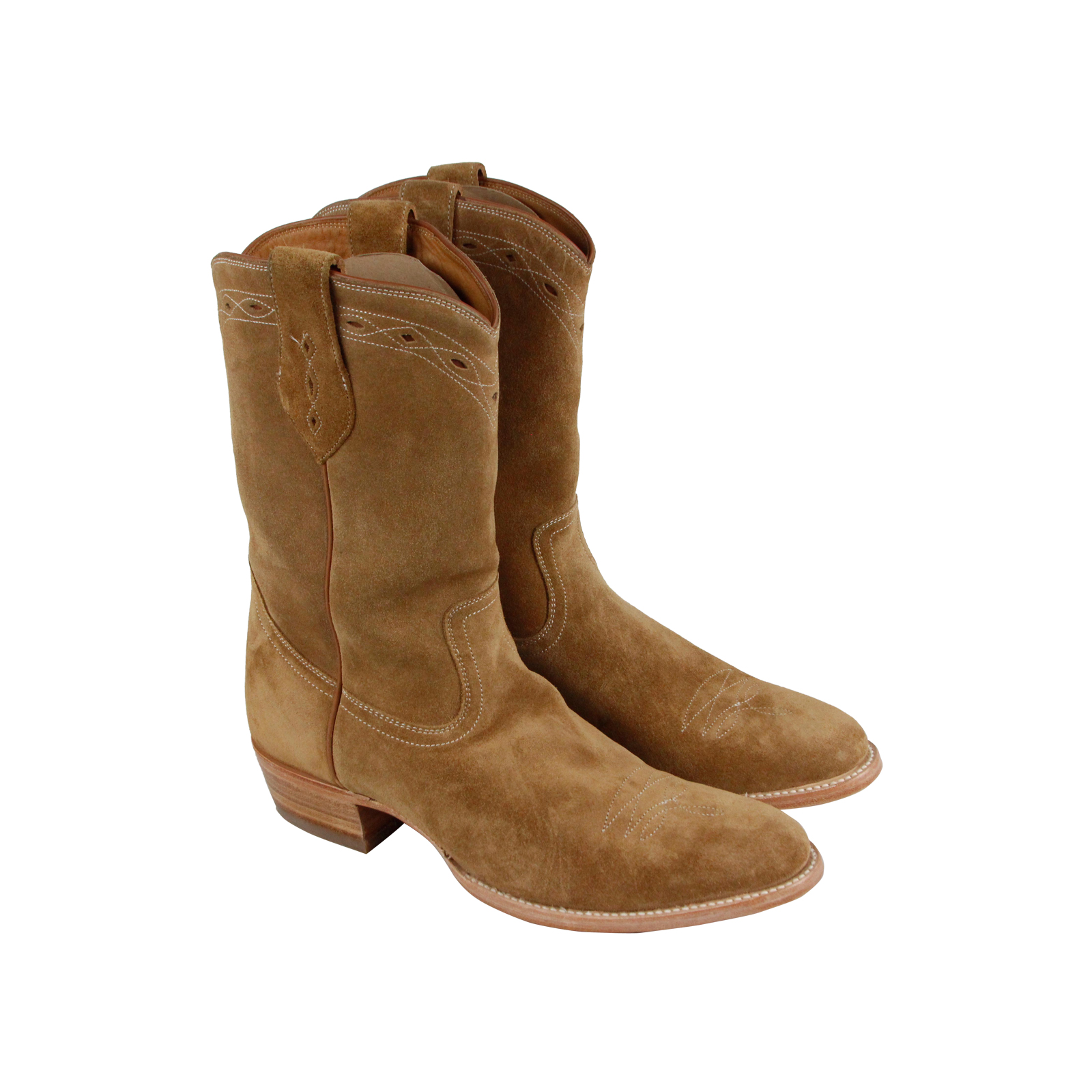 Frye Flynn Pull On  Herren Tan Suede Suede Suede Casual Dress Slip On Stiefel Schuhes 656e95
