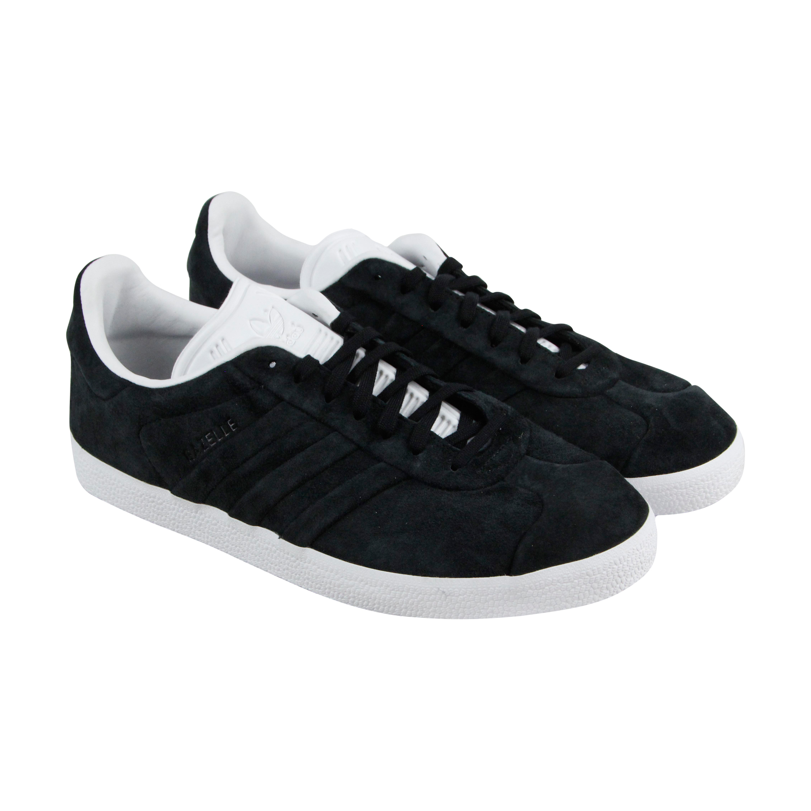 Adidas Gazelle Stitch And Turn hommes noir Nubuck Lace Up Sneakers Chaussures