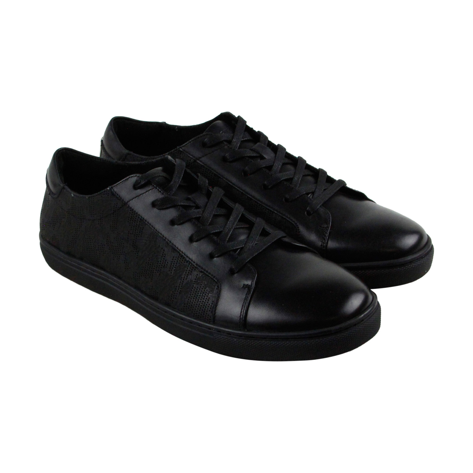 Kenneth Cole New York Kam Mens Black Leather Lace Up Sneakers Shoes