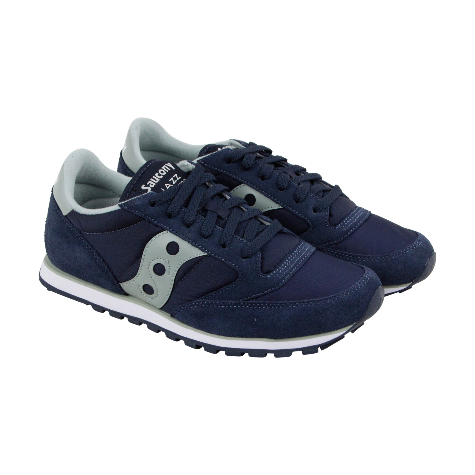 Saucony Jazz Lowpro Up Mens Blue Mesh Lace Up Lowpro Sneakers Shoes 48ed6e