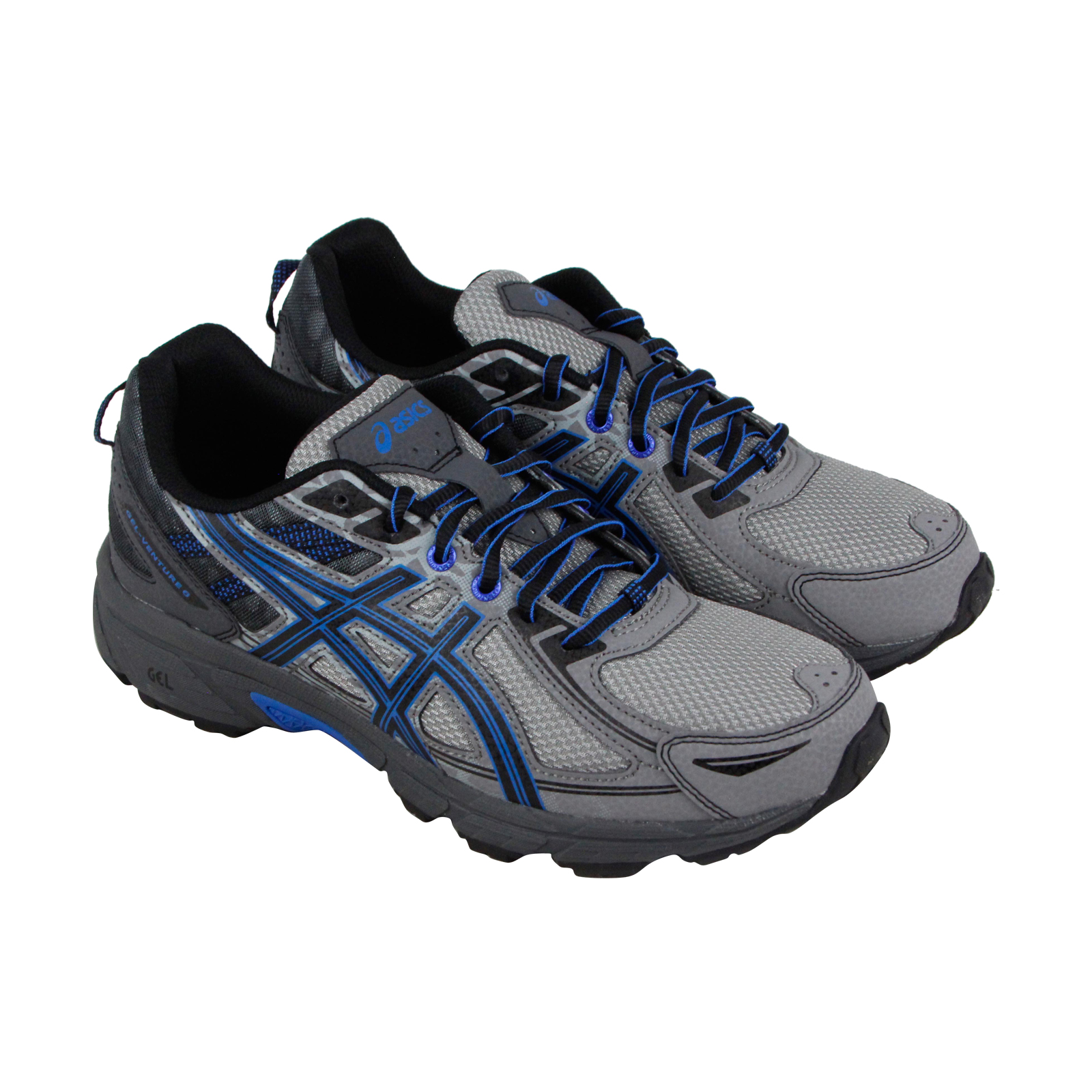 Asics Athletic Gel Venture 6 Damenschuhe Gray Textile Athletic Asics Lace Up Running Schuhes 921736