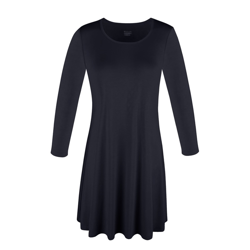 Women-039-s-Long-Tunic-Top-3-4-Sleeve-Dolman-Boat-Neck-USA-Dress-S-M-L-1X-2X-3X-PLUS thumbnail 14