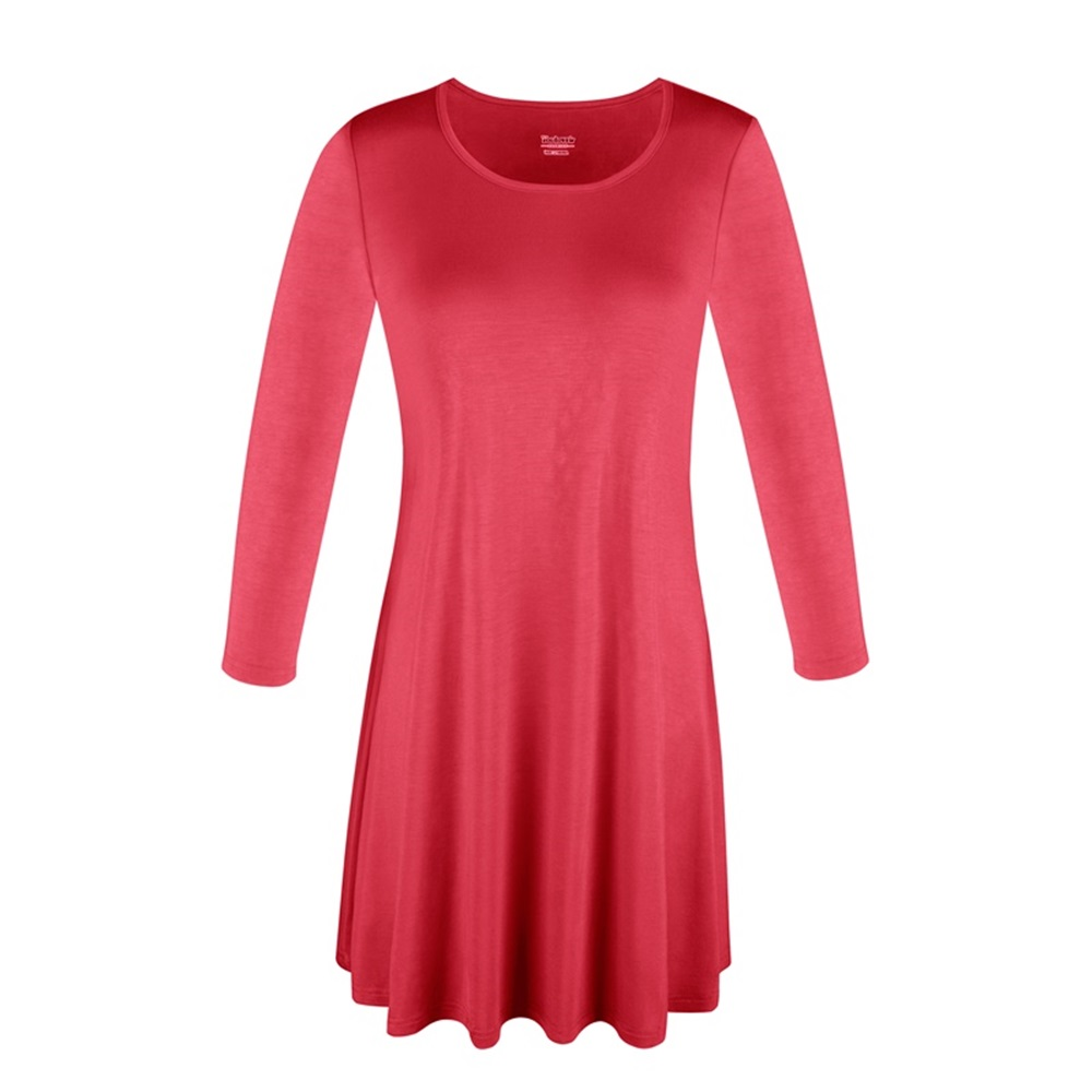 Women-039-s-Long-Tunic-Top-3-4-Sleeve-Dolman-Boat-Neck-USA-Dress-S-M-L-1X-2X-3X-PLUS thumbnail 10